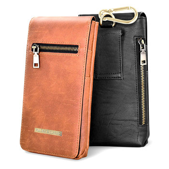 Universal PU Leather Case Phone Belt Pouch For iPhone Samsung Huawei Xiaomi Nokia Waist Bag Card Holder Wallet Classic Pocket