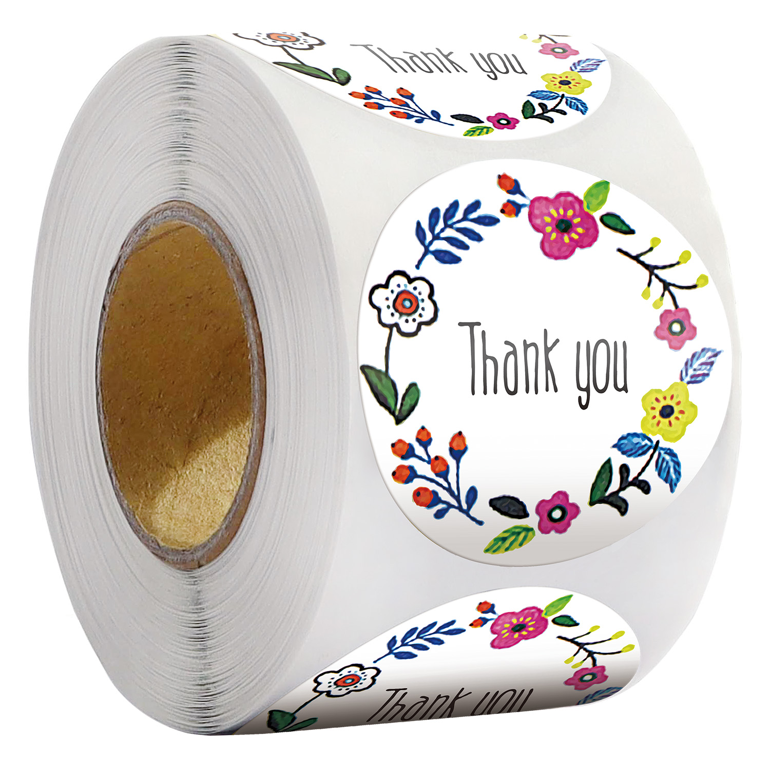500Pcs/roll Round Thank You Sticker Envelope Gift decoration Seal Labels sticker kawaii Scrapbooking material stationery sticker