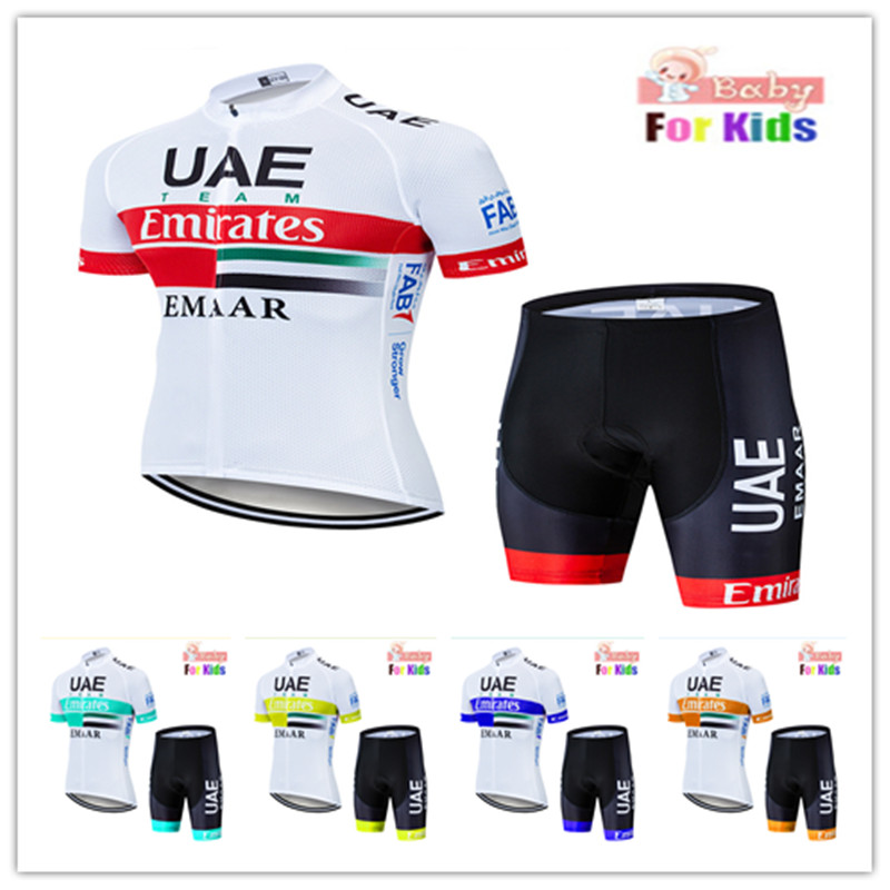 2020 UAE Kids Cycling Clothing Short Sleeve Summer Cycling Jersey Set for Boys MTB <font><b>Bike</b></font> Bicycle Children <font><b>Bike</b></font> <font><b>Wear</b></font> cycling kit image