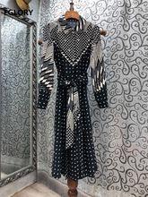 Женское винтажное платье до середины икры повседневное Хлопковое