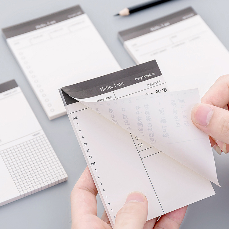 Stationery Sheets Memo Pad Stationary Post It Notepad Sticky Notes Planner Stickers Office Decoration Office Supplies To Do List