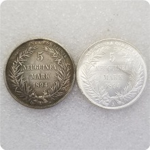 1894 Germany 5 mark New Guinea  Coins Old Coin Copy for collection gift