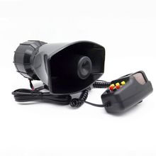 1Set Tone Sound Car Emergency Siren Horn Emergency Amplifier Hooter 12V 100W 400w 12v 9 sound speakers loud car horn police siren horn megaphone tone emergency truck mic pa system amplifier hooter