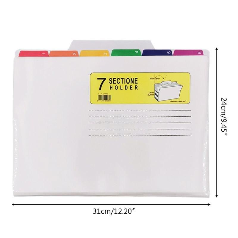 File Holder Classification Bag Color UV Print Folder Waterproof File Good Sorter