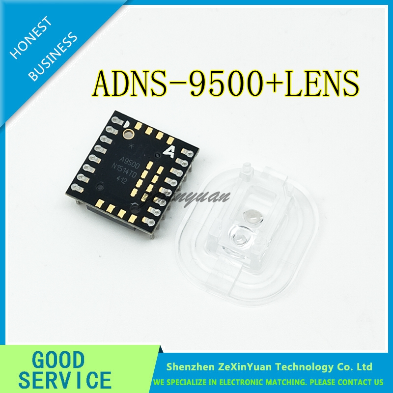 ADNS-9500 + ADNS-6190-002 A9500 DIP16sensor With New Optical Lens NEW&ORIGINAL ADNS9500