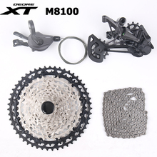 Shimano XT M8100 Groupset 12 Speed 1x12 MTB Groupset Shifter Lever Trigger Rear Derailleur SGS Long Cage 10-51T Cassette Chain shimano x t r rd m9000 sgs 11s speed mtb bicycle rear derailleur long cage carbon leg