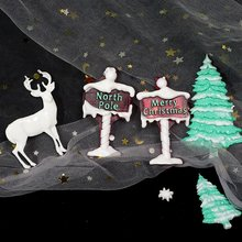 Flocos de neve de natal elk cristal cola epoxy silicone molde para uv resina cola epoxy moldes chaveiro pingente artesanato ferramentas jóias suprimentos