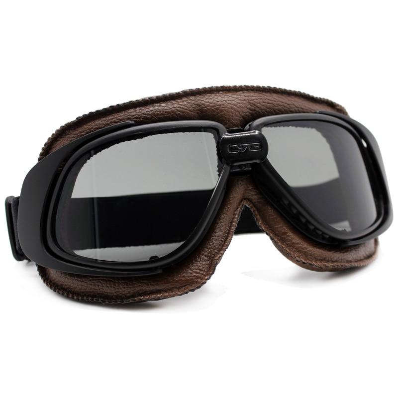 Universal Motorcycle Vintage Goggles Pilot Motorbike Scooter Biker Moto Glasses Steampunk Goggles for Harley Helmet Google