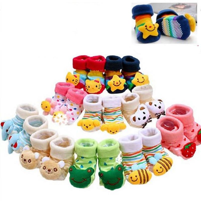 2019 New Newborn Baby Girls Boys 3D Animal Cartoon Anti-Slip Floor Socks Cute Baby Cotton Soft Ankle Socks Infant Socks 0-12M