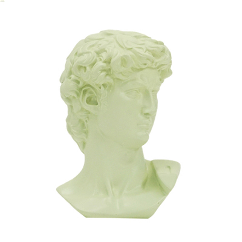Ev ve Bahçe'ten Statü ve Heykelleri'de 15cm David kafa portreler büstü alçı heykeli Michelangelo Buonarroti Firenze ev dekor reçine sanat ve el sanatları kroki uygulama M3782 title=