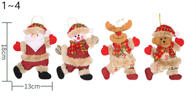 New Year 2020 Cute Santa Claus/Snowman/Angel Christmas Dolls Noel Christmas Tree Decoration for Home Xmas Navidad 2019 Kids Gift 17