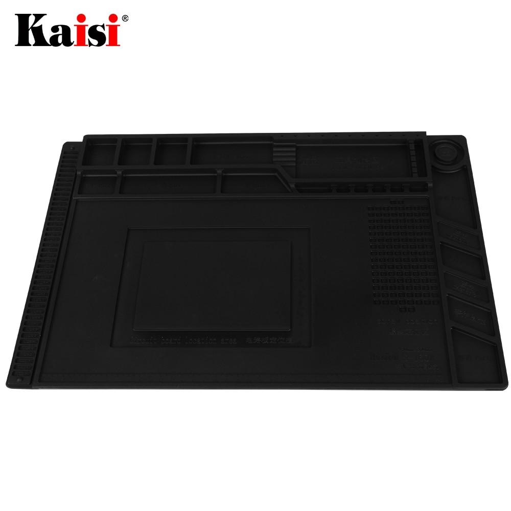 Tools : NEW ESD Soldering Mat With Magnetic Silicone Work Mat Heat-resistant BGA Soldering Station Repair Insulation Pad DIY Platform