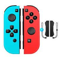 Mando Con interruptor para Nintendo Joystick inalámbrico Joycon L/R 2 Gamepads accesorios para interruptor correa para la muñeca