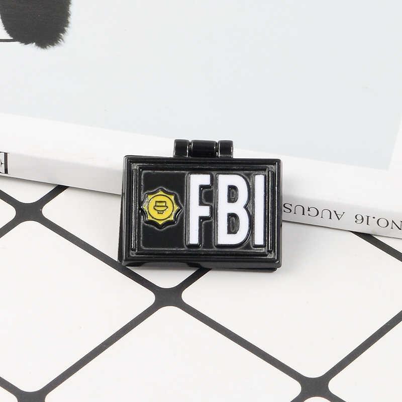 Kartun Kirk Enamel Pin FBI Simpson Lipat Tiket Film Pin Bros Katak Kermit Kerah Pin Lencana Pakaian Tas Hadiah Perhiasan kustom