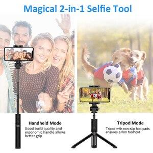Image 2 - 3 1 でbluetoothスティック三脚スタンドhuawei社xiaomi mi redmi iphone 11 三星銀河の携帯電話selfiestickサポート