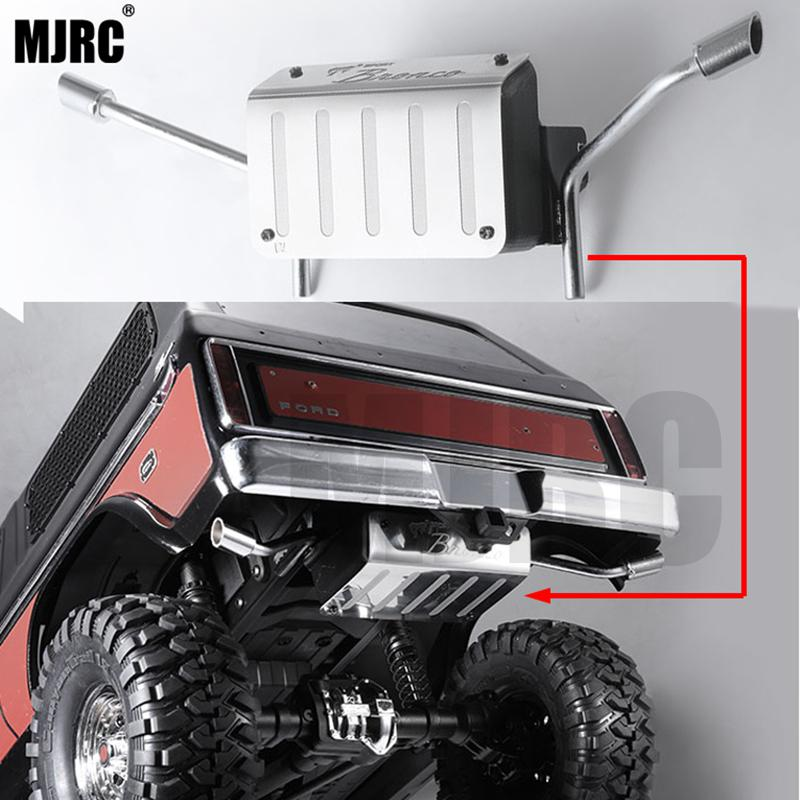 metal Fuel tank and exhaust pipe 1/10 Rc crawler truck Ford Bronco Traxxas Trx4 tail exhaust pipe Ford 82046 4 TRX4 dedicated|Parts & Accessories| |  - title=