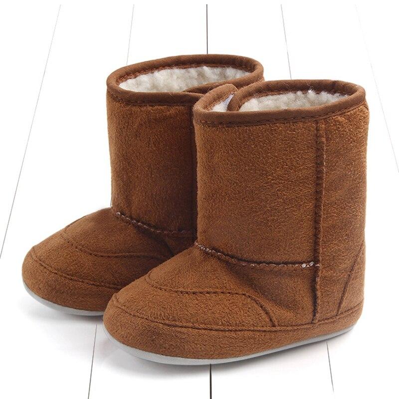 0-18 m bebê meninas meninos acolhedor coral veludo neve manter botas quentes sapatos bebê recém-nascido inverno ceia sola macia botas longo tubo