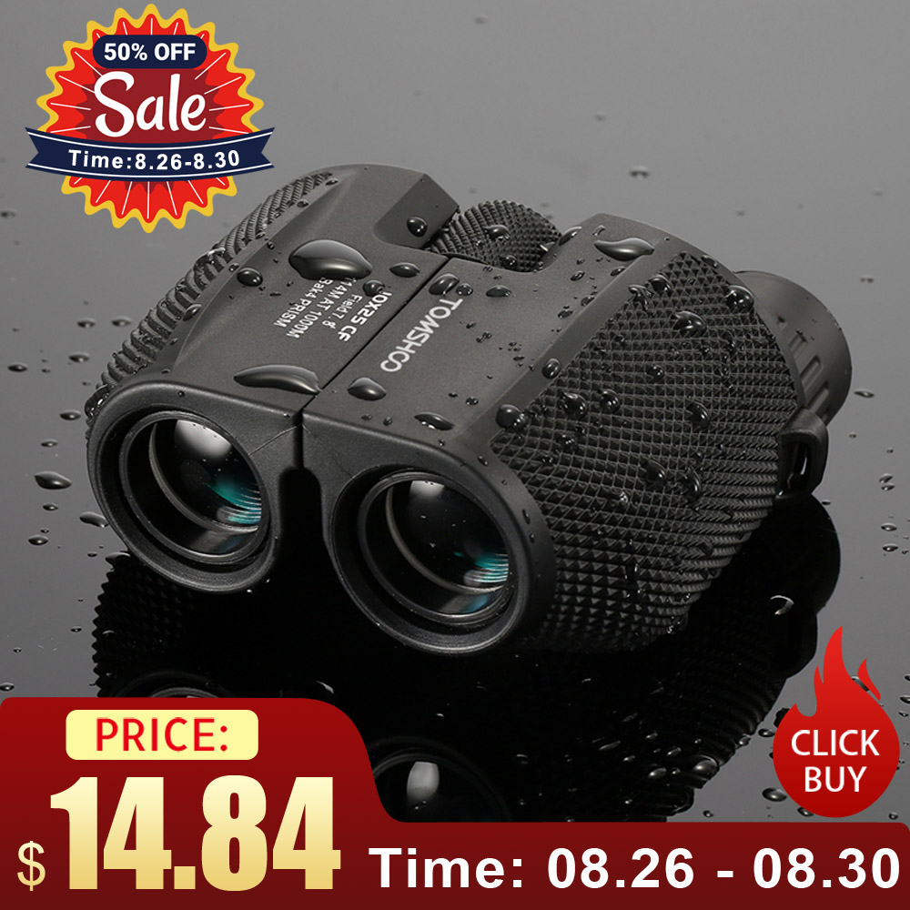 Professional Binoculars Pocket-Scope Prism Hunting-Telescope 10x25 BAK4 Portable High-Powered