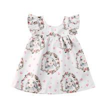 Crianças crianças meninas 6 m-4 t sem mangas coelho férias mini vestido de festa vestidos de princesa