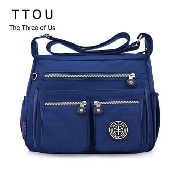 TTOU Ladies Fashion Shoulder Bags for Women Designer Waterproof Nylon Handbag Zipper Purses Messenger Crossbody Bag sac a main 1