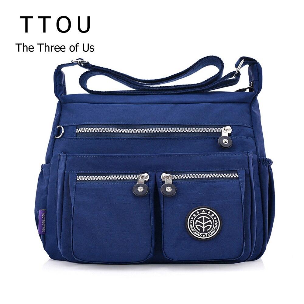TTOU Ladies Fashion Shoulder Bags For Women Designer Waterproof Nylon Handbag Zipper Purses Messenger Crossbody Bag Sac A Main