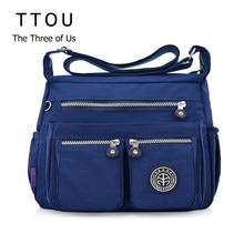 TTOU – sac à main imperméable en Nylon pour femmes, sacoche à bandoulière Fashion de styliste
