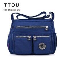 TTOU женские модные сумки через плечо для женщин дизайнерская Водонепроницаемая нейлоновая сумка на молнии кошельки сумка через плечо сумка sac a main