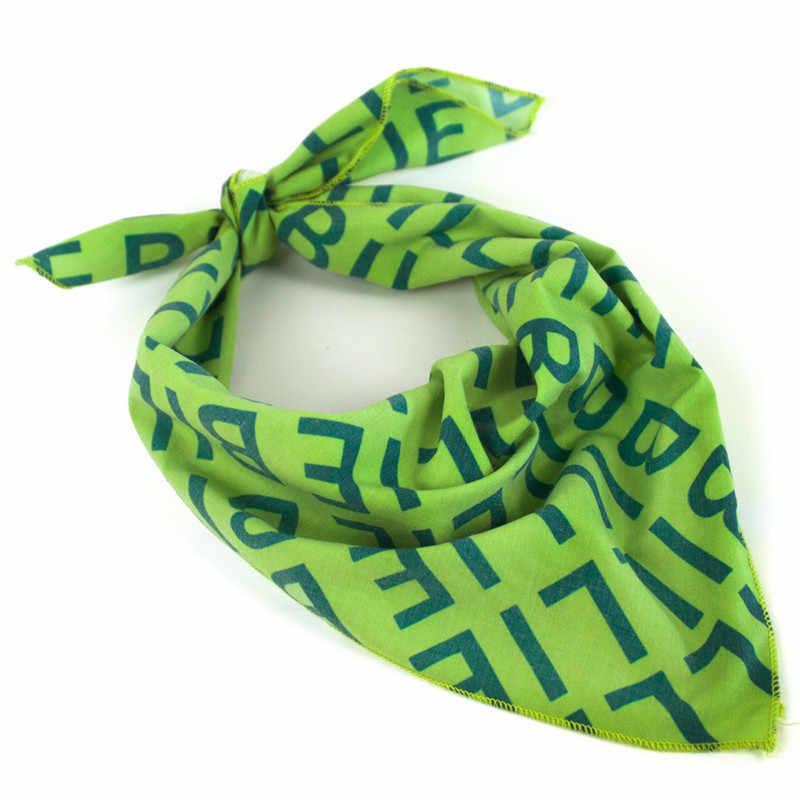 Billie Eilish Bandana Headband Faixa de Cabelo Cosplay Headwear Hop Lenço Quadrado Verde