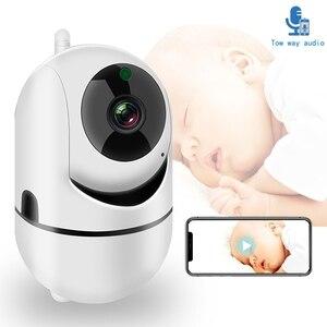 Image 1 - Babá eletrônica com câmera, câmera de vídeo bidirecional 1080p HD, wi fi, babá para bebê adormecido, áudio, visão noturna, segurança residencial, câmera, babyphone