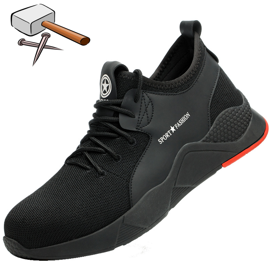 Lightweight Breathable Men Safety Shoes Steel Toe Work Shoes For Men Anti-smashing Construction Sneaker