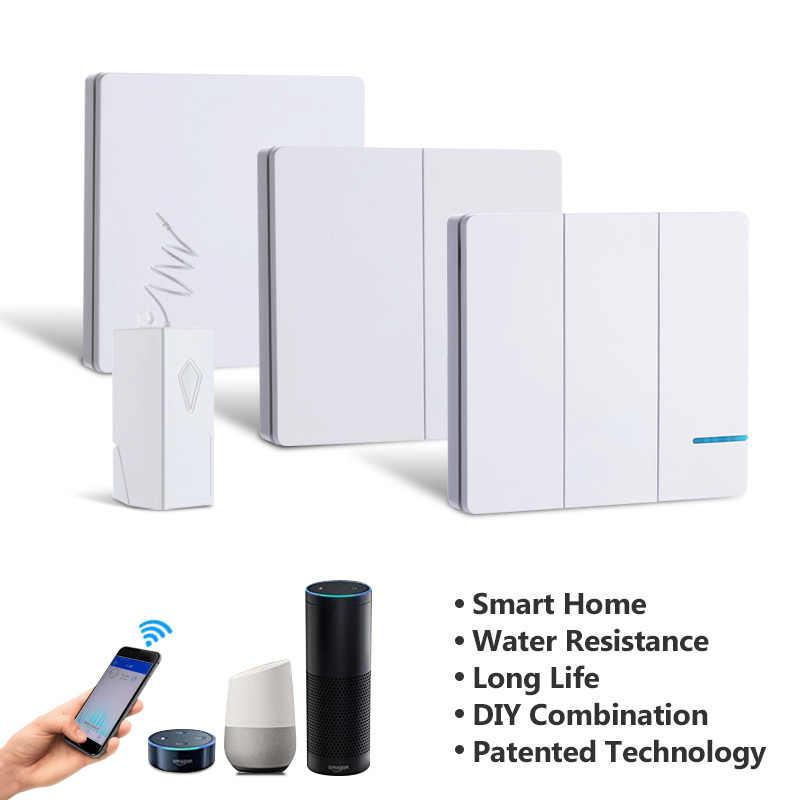 Pilot zdalnego sterowania światło bezprzewodowe przełącznik Tuya Smart Life APP wifi rf przełącznik do montażu ściennego wodoodporna Alexa Echo Google Home Voice Control