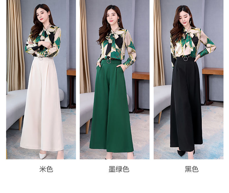 H4d26336561cd407a9fd7311bddd1d61cU - Summer Two Piece Set OL Women Sets Plus Size Two Piece Set Top And Pants Wide Leg Pants Woman Tracksuit /outfit/suit/Set 2 Piece