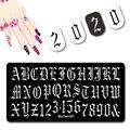Готический дизайн ногтей шаблон большой размер письмо Carven штамповка цифровой графический металлический лист пластина для ногтей штампово...