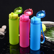 Kettle 600ML plastic water dispenser travel student outdoor sports fitness school portable leak-proof cup drinking water bottle