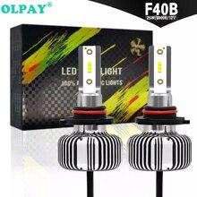 OLPAY Super Bright Car Headlights H7 LED H4 led H8/H9/H11 HB3/9005 HB4/9006 Auto Bulb 60W 6000LM Automobiles Headlamp 6000K set car fog light led headlights h7 80w 5600lm automobiles headlamp h8 h9 h11 hb3 9005 hb4 9006 h10 bulb auto front bulb