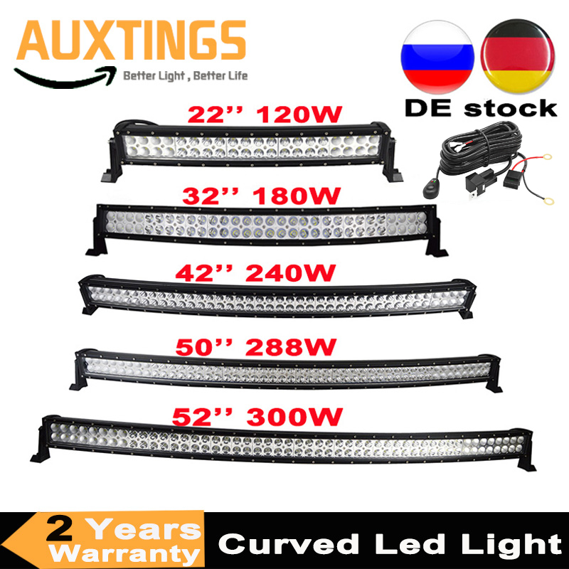 Bar Offroad Truck Driving Car-Tractor Led-Light Curved 50-52inch 4x4 Suv 300W 180W 240W
