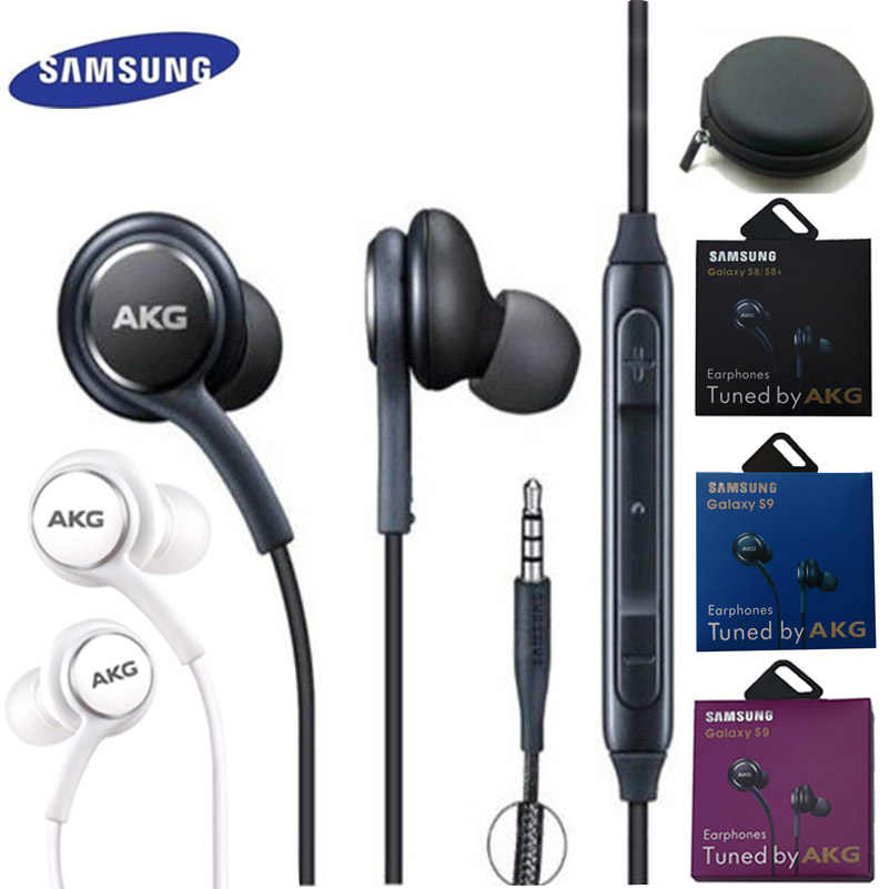 Samsung AKG EO IG955 Earphone 3.5 Mm In-Ear MIC Wired Headset untuk Samsung Galaxy S10 S9 S9 + S8 S7 s6 S5 Huawei Xiaomi Smartphone