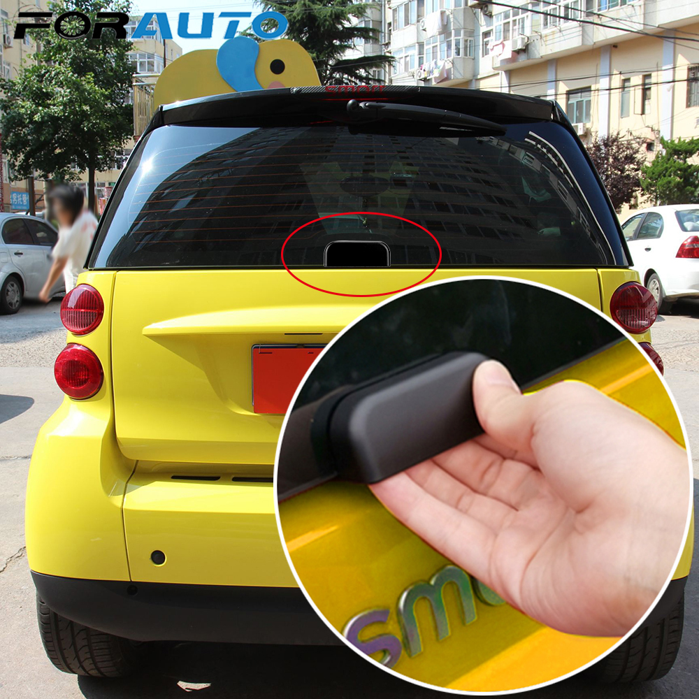 Car Rear Bumper Trunk Back Door Handle Sticker Auxiliary Knob Exterior Decoration For 09-14 Old Smart Fortwo 451 Car Accessories