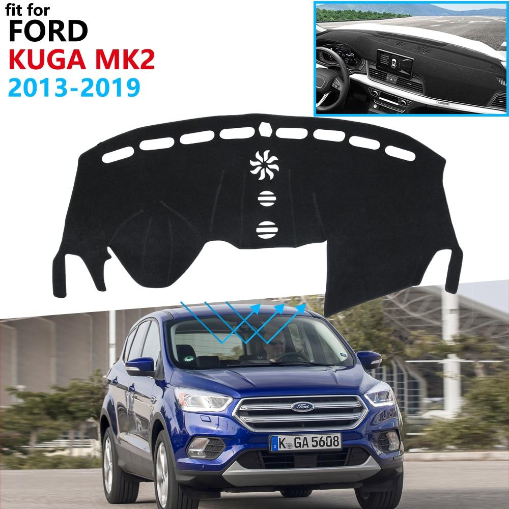 Защитная накладка на приборную панель для Ford KUGA 2013 ~ 2019 Mk2 Escape, Аксессуары для автомобилей, панель управления яркостью 2016 2017 2018