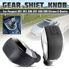 Pommeau de levier de vitesse automatique ABS, 5 vitesses, pour Peugeot 307 301 206 207 408 508 3008 C4L C2, vente en gros, livraison rapide