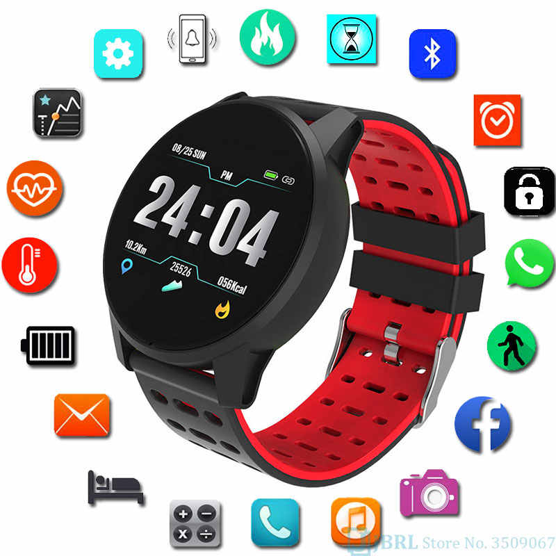 Stainless Steel Smart Watch Wanita Pria Smartwatch untuk Android IOS Elektronik Jam Pintar Kebugaran Tracker Top Luxury Smart-Watch