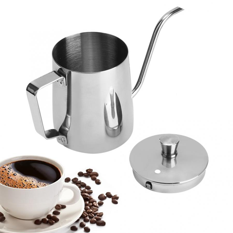 Coffee-Pot Spout-Kettle Hand-Drip Drip-Mocha Stainless-Steel Teapot 350ml Household Long