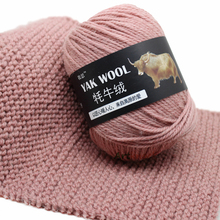 4 шт. X100g ручное вязание пряжи яка шерстяная пряжа вязание спицы 4,5 мм 3-слойная тонкая шерстяная окрашенная