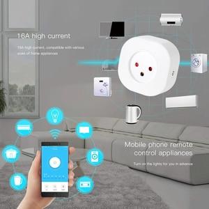 Image 4 - ACCKIP minienchufe inteligente de Israel, enchufe básico inalámbrico con WiFi, aplicación remota de Control, adaptador de corriente inteligente, enchufe de Israel, salida de 220V