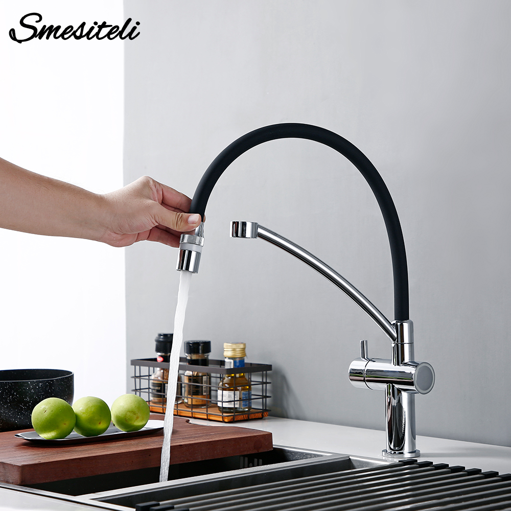 Smesiteli Smart Sensor Touch Tap Kitchen Faucet Black Pull Out Chrome Hot Cold Water Single Lever Touchless Mixer With Sprayer