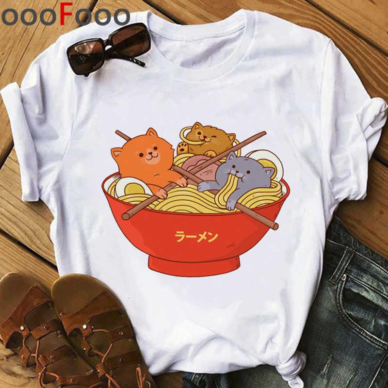 Gatto Kawaii Harajuku T Shirt Donna Ullzang Divertente Cartone Animato T-Shirt Cute Anime 90s Graphic Maglietta di Stile Coreano Top Magliette femminile