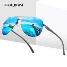 FUQIAN 2020 Fashion Rimless Pilot Polarized Sunglasses Men H