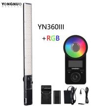 YONGNUO YN360 III YN360III דו צבע כף יד LED וידאו אור מגע התאמת 3200k  5500k RGB ColorTemperature עם מרחוק