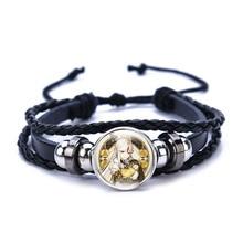 Genshin Impact Bracelet Anime Game Liyue Harbor Leather Bangle Wristband Jewelry