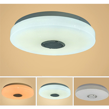 110-220V RGB LED Ceiling Lights Home lighting 36W 60W APP Bluetooth Music Light Bedroom Lamps Smart Ceiling Lamp+Remote Control